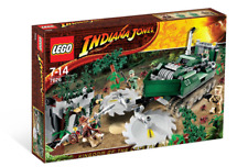 LEGO JUNGLE CUTTER 7626 Set w/ Box & Instructions WWII Indiana Jones 4 minifigs