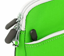Strong Dual Zip Pouch For A1CS Fusion5 Xtra & Premium Tablet In Green Neoprene