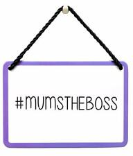 Mum Plaque Gift - Shaped Tin Plaque - Mums The Boss PA021