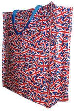 Union Jack Pattern Tote British Flag Olympics Shopper Shopping Bag For Life
