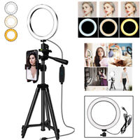 Studio LED Ring Light With Stand Dimmable Photo Video Makeup Lighting Lamp LIU9