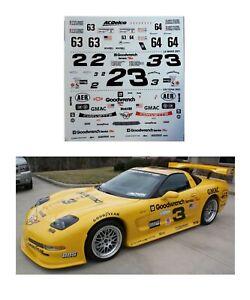 #3 24 hrs of Daytona-Lemans Corvette 1/24 scale DECAL AFX  Autoworld SCX Cerrara