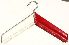 Bügel Kleider Jacke Mantel Kunst Leder Imitat DDR Ostalgie Vintage 60er Rot Weiß