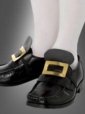 Schuhschnallen für Hexen, Barock- und Pilgerkostüme goldene Schnalle