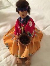 Vintage Primitive Tarahumara Indian Doll Hand Carved Raramuri Mexico Native