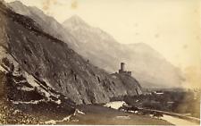 Suisse, Martigny, le château de la Bâtiaz, canton du Valais  Vintage albumen pri