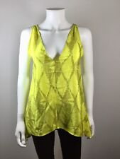 TWELFTH STREET BY CYNTHIA VINCENT Yellow Print Silk Tunic Blouse Size P