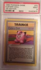 BASE 1ST EDITION SHADOWLESS - CLEFAIRY DOLL 70/102 - POKEMON PSA GRADED MINT