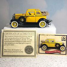NATIONAL MOTOR MUSEUM MINT diecast model car 1932 ford V-8 convertible sedan coa