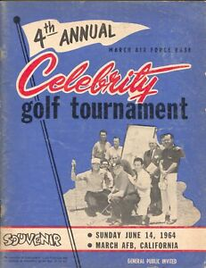 4th Annual Celebrity  Golf Tournament Program-6/1964-March AFB, CA-Bob Hope-VG