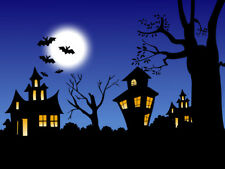 Halloween Haunted House Edible Party Cake Image Topper Frosting Icing Sheet