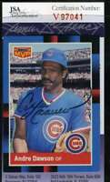 Andre Dawson 1988 Donruss Jsa Coa Hand Signed Authentic Autograph