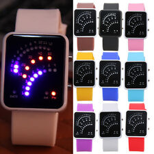 Unisex Kids Boys Girls Student Cool Multicolor LED Sport Silicone Wrist watches