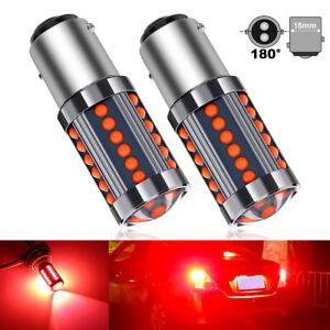 2pcs 1157 BAY15D 36 COB LED Red Tail Lamp Car Signal Brake Light Parking Bulb
