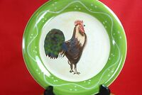 Baum Brothers ROOSTER STRUT COLLECTION DINNER PLATES Set of 4 Style Eyes 10-1/2""
