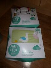 2 x FRED & FLO COT BED QUILTS 3.5 TOG AGE 1 YEAR +  120 x 100 cm FARM & BEE *NEW