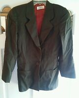 015 Womans Linda Allard Ellen Tracy Wool Jacket Size 4 Dark Olive Color