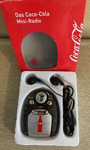Vintage Mini Radio Das Coca Cola German Promo Original Box, Works