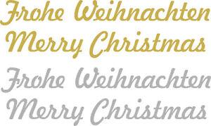 Weihnachten Frohe Merry Christmas Geschenk-Aufkleber Wandtattoo Fensterdeko