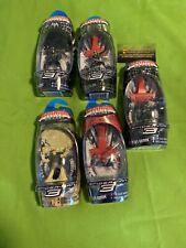 Hasbro Titanium Die Cast SpiderMan 3 Venom New Goblin Sandman Black Costume Lot