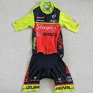 Pearl Izumi Team Race Suit Skinsuit Small 🚲 Stage 2 Cyclery BOSCH Novatec Fuji