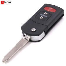 Keyless Flip Remote Key Fob 313.8MHz 4D63 for Mazda 6 MX-5Miata RX8 FCC:KPU41788