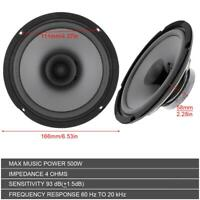 "6"" 500W Car HiFi Coaxial Speaker Vehicle Door Auto Audio Music Stereo Speakers"