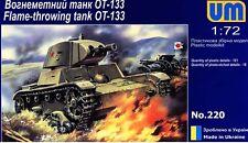 1/72  WWII OT-133 Soviet Flame Thrower UM220 Models kits