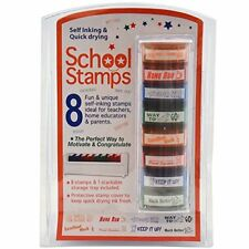 8 SELF INKING REWARD STAMPS HOME TEACHER TEACHING AID SCHOOL STUDENT MARKING