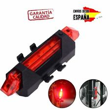 d69912759 Luz 5 LEDS Trasera Bicicleta para Ciclismo Reflectante Señalizacion Bateria  Roja