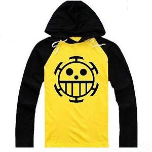 Anime One Piece Trafalgar Law Hoodie Hooded Sweatshirt Cotton Pullover Coat New