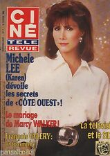 Couverture magazine,Coverage Ciné Télé Revue 15/02/90 Michele Lee