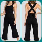NWT WILDFOX Womens  Sleeveless Gene Ramper Jumpsuit Black Sz L