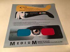 """NBC TV Series Medium """"Still Life"""" Movie Promo 3-D Glasses Patricia Arquette 2005"""