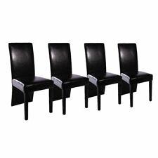 Vidaxl 4x sedie da pranzo in similpelle legno nere moderne Seggiole salotto
