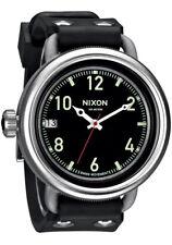 Nixon hombres octubre cuarzo 100m acero inoxidable / reloj goma negro A488000