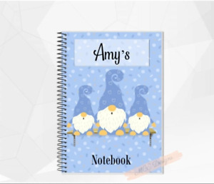 Blue personalised Gonk (gnome) A5 Notebook/ Sketchpad Gonk stationery