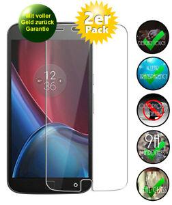 "2x ""Motorola Moto G4 Plus"" Schutzglas 9H Panzerfolie Echtglas Displayschutz Glas"