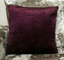 "Cushions Set of 4 Crushed velvet Purple Velvet Cushion covers  17""x17"""