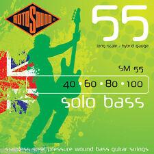 Rotosound SM55 Solo bass cordes guitare en acier inoxydable pression blessure 40-100