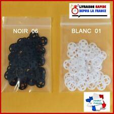 Lot 6 grands Boutons vintage blanc texturé lumineux 2,7 cm ref 1752