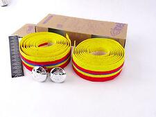 Cinelli handlebar tape Yellow Red Blue Stripe cork Ribbon vintage Bike NOS