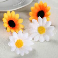 50Pcs Artificial Gerbera Daisy Silk Flowers Heads DIY Wedding Party Decorative