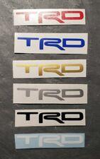 (2) Trd Logo Decal Sticker Door Handles Bumper For Celica Scion Tundra Tacoma