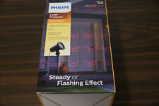 New- Philips Halloween Laser Projector Red Bat Pattern -Indoor/Outdoor