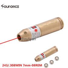 Dia 7-8mm CAL .243 .308 REM Brass Red Laser Bore Sighter Cartridge Boresight