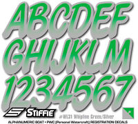 STIFFIE Whipline WL14 Boat PWC Numbers Decal Registration SEA-DOO YAMAHA BLK RED