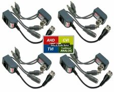 Evertech 4 Pairs HD Video Audio Power Balun Compatible with 1080P/720P TVI AH...