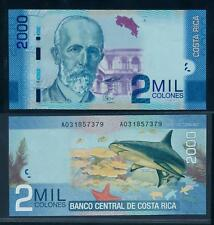 [96100] Costa Rica 2009 2000 Colones Polymer Bank Note UNC P275