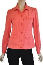 Regular Striped Casual 100% Cotton Coats & Jackets for Women